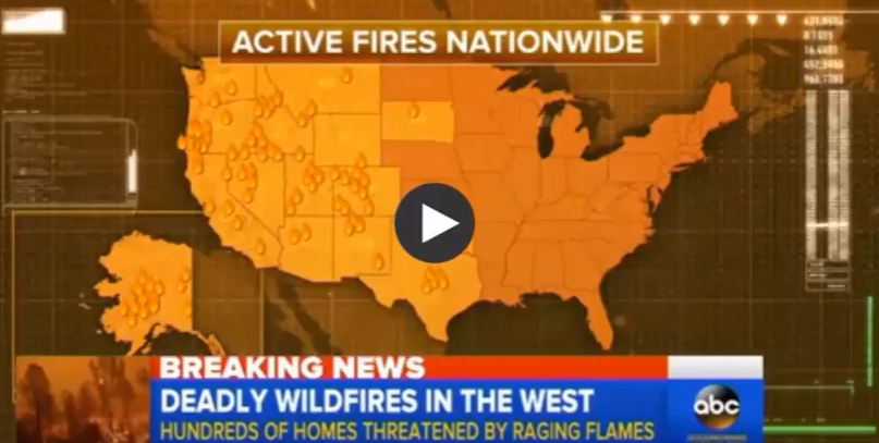 Active fires July 2018