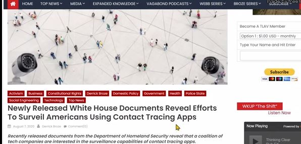 Documents Reveal efforts to surveil Americans using Contact Tracing Apps