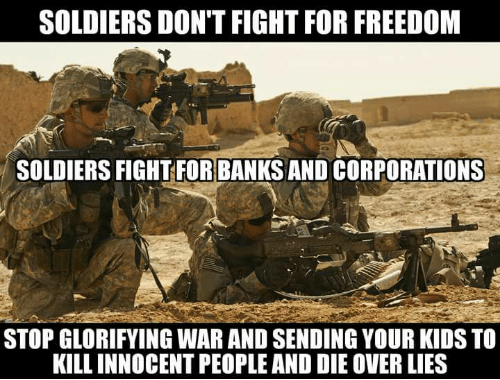 Glorifying Soldiers
