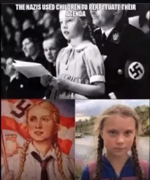 Simalarities between Greta and Hitler Youth poster