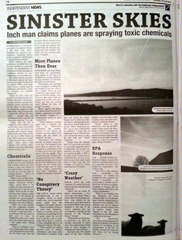 Sinister Skies Newspaper Article