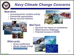 Navy Climate Change Concerns