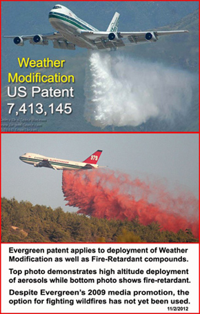 Weather Modificatin Patent shwoing jets duming